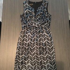 Dark and light blue dress